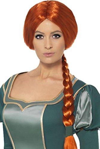 Ladies Fancy Dress Party Costume False Hair Shrek Princess Fiona Wig Brown