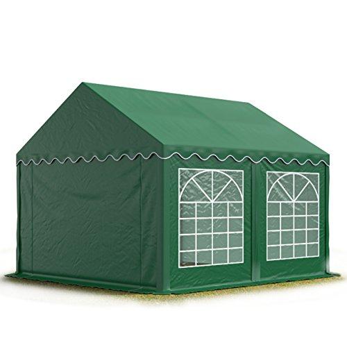 TOOLPORT 3x4 m Tente de réception/Barnum Vert foncé Toile de Haute qualité env. 500g/m² PVC