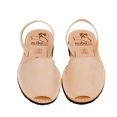 Authentic Avarca Menorquina Sandals Basic Nobuck Arena - Talla 41 EU