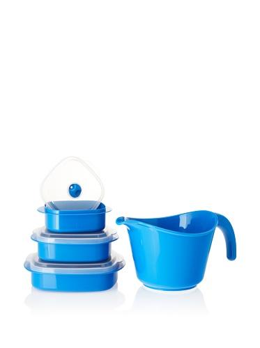 Reston Lloyd Microwave Batter Bowl/Cookware Storage Set, Azure