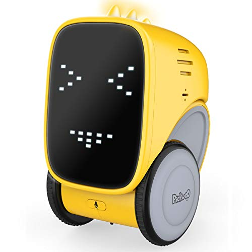 Robot Jouet éDucatif Toy-Robot Interactif Intelligent Artificielle à Commande Vocale/ContrôLe Gestuel/Induction Tactile/Enregistrement De Parler/Rechargeable USB Chantant Et Dansant Cadeau Pour Enfant