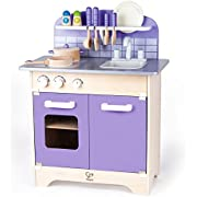 Hape Play Kitchen for Toddlers - Kids Kitchen Playsets for Pretend Play, Wooden Toys Kitchen Playset w/ 13 Toy Kitchen Accessories