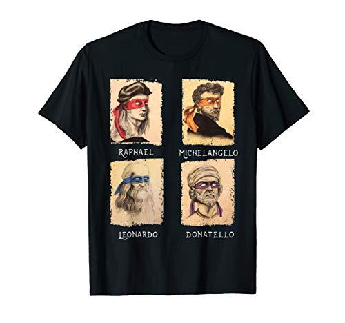 Italian Renaissance Ninja Artists T Shirt Gift for Women Men