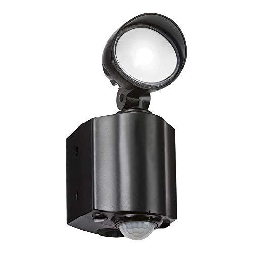 Knightsbridge LED Spot Security Light Sicherheitsleuchte mit PIR, Polycarbonat, Schwarz