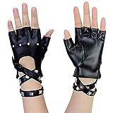 Immagine 2 guanti punk rivetti performance in