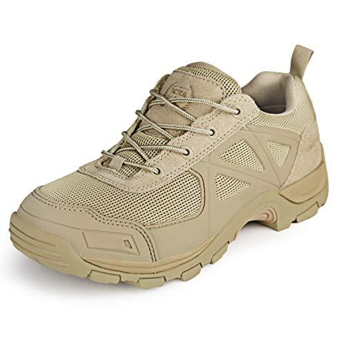 FREE SOLDIER Tactical Desierto Zapatos Rápido Antideslizante Camping Senderismo Montaña Todo Terreno Off-Road Zapatos (Arena, 40)