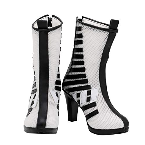 2020 Movies BOP Womens HQ Cosplay Halloween White Shoes High Heel Boots