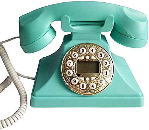 CWZY Teléfonos Decorativos Antiguos Teléfonos caseros Teléfono Retro, Teléfono clásico/Teléfono Fijo/Teléfono con Cable para Inicio/Botones de Hotel Teléfono de Escritorio clásico Vintage