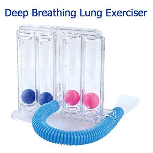 SUN RDPP Respirare Funzione Trainer Riabilitazione polmonare a Quattro Palla Student capacità polmonare Anziani Esercizio di respirazione Riabilitazione