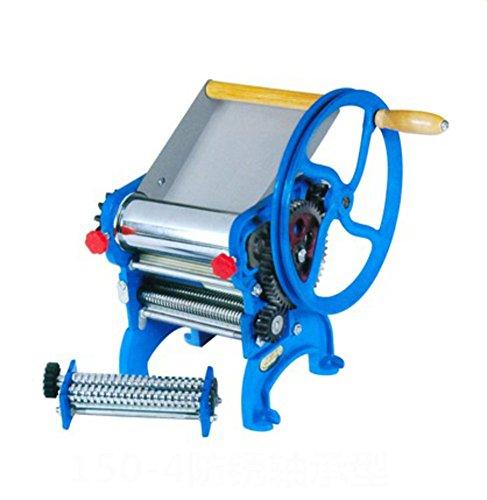 SL&MTJ Stainless Steel Pasta Maker Machine,Press Noodle Machine Manual Rolling Machine Hand-cranked Noodle Pressing Machine Small Dumplings Peeling Machine-A 20x20x26cm(8x8x10inch)