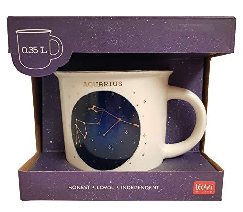 Count Your Lucky Stars Porzellan-Tasse, 350 ml, Aquarius