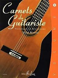 Partition : Carnets du Guitariste - Guitare - Volume 2