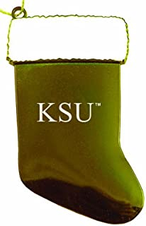 Kennesaw State University - Christmas Holiday Stocking Ornament - Gold