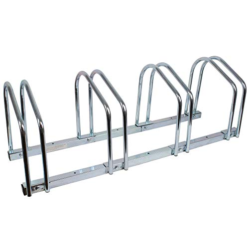 Fahrradständer für 4 Fahrräder Räder Fahrrad Ständer Rad Aufstellständer Bike Mehrfachständer Wandständer Bodenständer