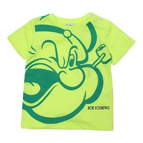 Iceberg T-Shirt Bimbo TSICE2125B Gialla Con braccio di Ferro PE20 18M