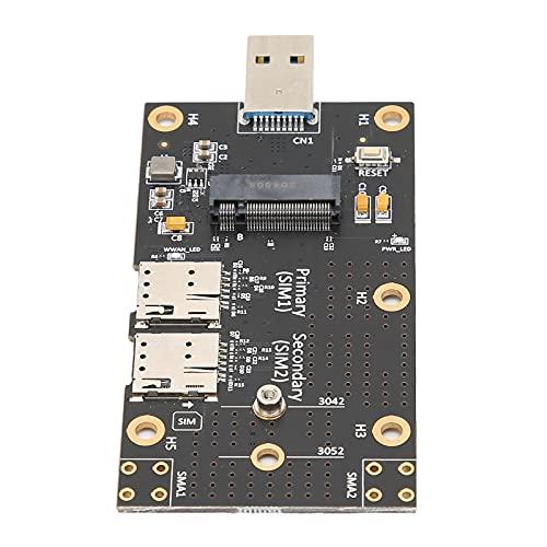 Adaptador convertidor de lector externo M.2 a USB 3.0 con ranura para tarjeta SIM dual Soporte para computadoras portátiles de escritorio 3G / 4G / 5G M.2 Key B Módulo USB 3.0 a ranura para tarjeta SI