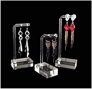 Svea Display Modern Design Unique Clear Acrylic Jewelry Display Stands for Earrings Trade Show Decoration Holder Store Photo Prop Jewelry Exhibition Gallery Premium Quality