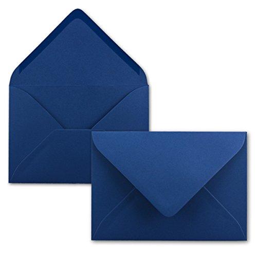 Neuser Enveloppes colorées C5229x162mm avec fermeture adhésive, transparentes. 50 Umschläge 17-Nachtblau