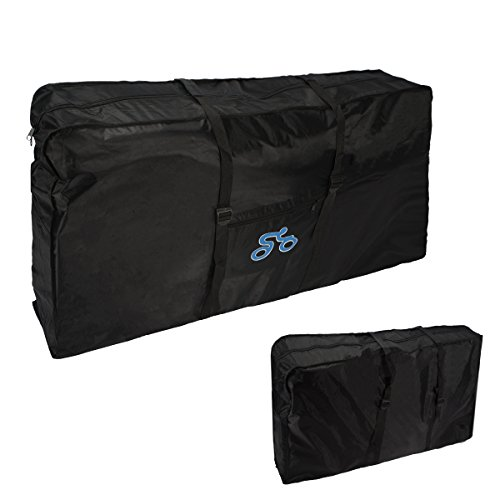 Folding Bike Bag , LOPEZ 26-inch Cycling Bicycle Transport Travel Carry Bag Carrier Storage Pouch Case Loading Oxford Thick Package Bags