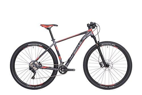WHISTLE Mountain Bike 29' Front/Hardtail Alikut 1721, 22 velocità, Colore Antracite - Rosso Opaco, Misura L 21' (185cm - 200cm)
