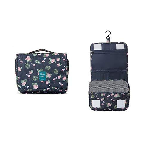 Sac de rangement Sac de Lavage Portable de Voyage Sac cosmétique imperméable pour Sac de Bain pour la Maison (Color : Blue)