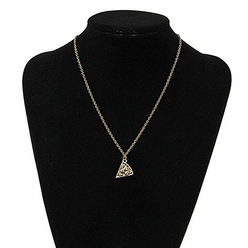 YoungerY Friendship Retro Slice Pizza Pendant Chain Necklace Friend Fashion Jewelry Gold