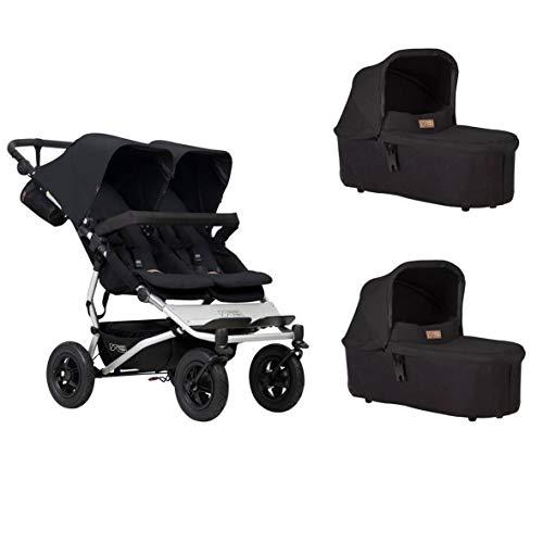 Mountain Buggy Duet Buggy V3 - Silla de paseo con 2 capazos, color negro