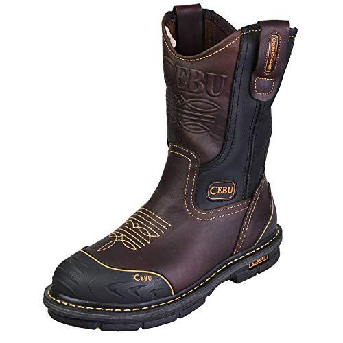 "CEBU Men's Farmer 10"" Work Boot - Brown 8.5 US"