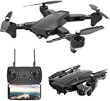 4K Foldable RC Drone, SX20 2.4GHz Remote/Phone/Tablet Controlled RTF Quadcopter with 120° Wide-Angle