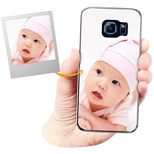 Coverpersonalizzate.it Cover Personalizzata per Samsung Galaxy S6 Edgecon la Tua Foto, Immagine o Scritta - Custodia Morbida in TPU Gel Trasparente - Stampa di altissima qualità