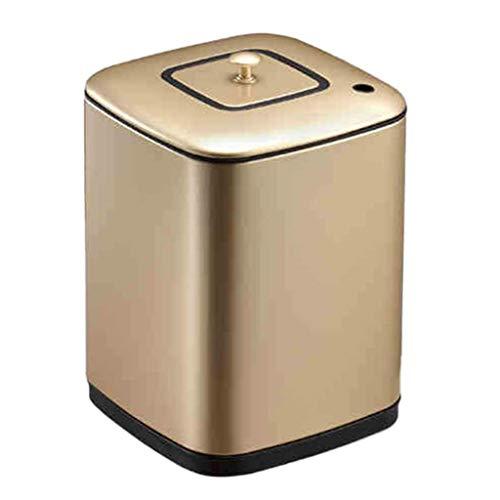 Vuilnisemmer filter teerresten thee dubbele thee emmer metaal vierkant met deksel sanitair gerecycled container huishoudelijk afval voorraadcontainer (kleur: B grootte: 21 3 * 31 cm)