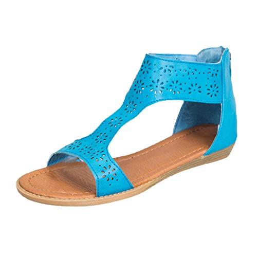 SANFASHION Bekleidung SANFASHION Damen Schuhe 144155, Alla Schiava Donna, Multicolore (Blau), 37 EU