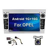 Android Radiode Coche para Opel GPS CAMECHO 7 Pulgadas Pantalla táctil Estéreo WiFi FM Bluetooth Mirror Link Reproductor USB Dual para Astra Corsa Vectra Zafira con Cámara Trasera