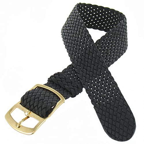 Shopkdo - Correa de reloj de nailon, 14 mm, color negro