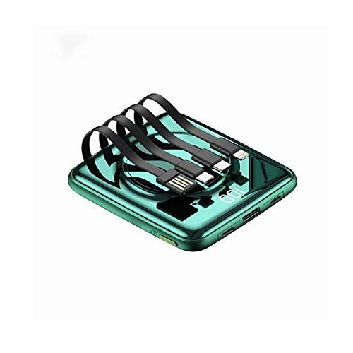 Power Bank 20000mAH El cargador portátil más pequeño, tecnología de carga ultra compacta de alta velocidad, cargador de paquetes de batería de pantalla LED compatible con todos los dispositivos de tel