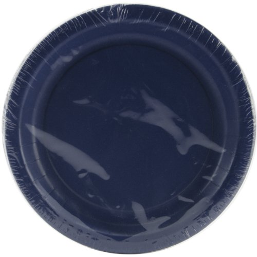 Creative Converting Touch of Color 24 Count Paper Lunch Plates, Navy