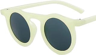 QWKLNRA - Gafas De Sol para Hombre Montura Verde Lente Negra Gafas De Sol Deportivas Polarizadas contra-UV Gafas De Sol Redondas De Moda Portátiles Mujeres Vintage Monturas De Gran Tamaño Sombras Mu