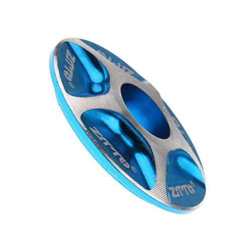 Gazechimp Tapa de Vástago Dirección Práctico Durable MTB Bici Bicicleta Montaña Poste de Manubrio Accesorios - Azul