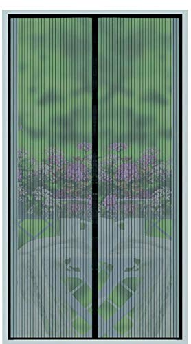 ScreenYET Magnetic Screen Door -Full Frame Seal - Fits Door Size up to 34 X 82 Inches - Mosquito Bug and Fly Curtain for Door -26 Strong Magnets-Weights Bottom Heavy Duty