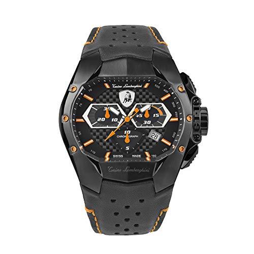 Tonino Lamborghini GT1 Chronograph Uhr Orange Carbon T9GB