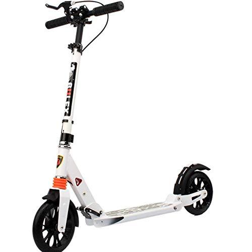Scooter de pie Vespa de cercanías urbano Freestyle adultos cuentos for niños adolescentes con la correa de hombro del diseño del carbón freno suave, de un segundo mecanismo de plegado fácil Scooter de