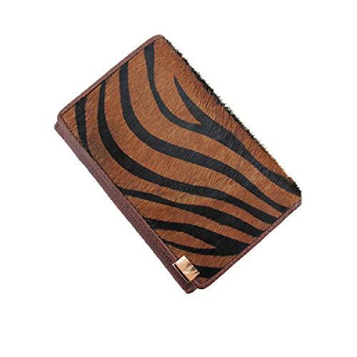 DZX Womens portemonnee Multi Credit Card Lederen Luipaard Print Portemonnee C
