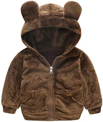 QueenY Baby Jassen Peuter Kids Baby Jongen Meisje Nepbont Teddybeer Warme Kapmantel Jas Uitloper Warme Jas Mantel