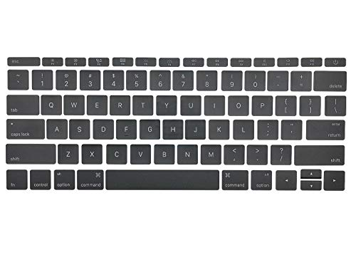 Individual Replacement Key Cap Full Set of US Keyboard Replacement Keycaps Keys QWERTY for MacBook Pro Retina 12'/13'/15' A1534 2017 A1706 A1707 A1708 2016 2017