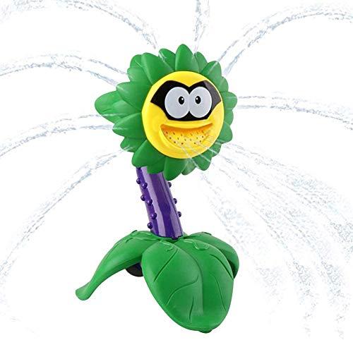 Ucradle Kinder Sprinkler Wassersprühspielzeug, Wassersprinkler Badespielzeug,Sonnenblumenwassersprinkler, Sprinklerspielzeug Für Den Garten Hinterhof, Spritzspaß Für Sommertage
