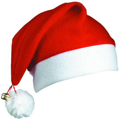 MB - Confezione da 12 cappelli con campanellino da Babbo Natale