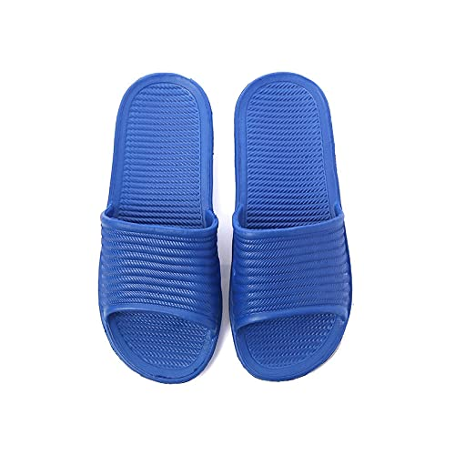 Zapatillas Casa Chanclas Sandalias Zapatillas Unisex Sandalias De Baño Antideslizantes Zapatillas De Casa De Fondo Suave Piso Interior Zapatillas De Baño Familiares Hombres Y Mujeres 36 Blueforme