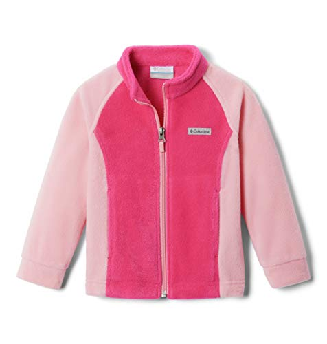 Columbia Girls' Toddler Benton Springs Jacket, Soft Fleece, Classic Fit, Cactus Pink/Pink Orchid, 3T