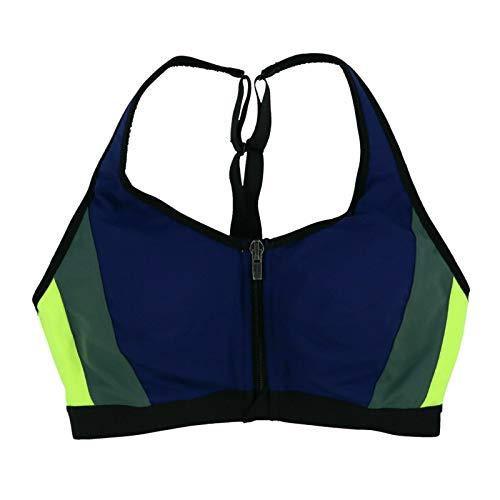 Victoria's Secret Sport Bra Front Close Knockout Colorblock (34B, Dark Blue Green)