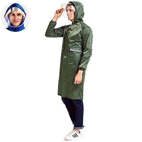 Regenjas, herbruikbaar, bescherming, combinatie, waterdicht, anti-spy, waterdicht, dubbel masker, halve lengte, voor elektrische auto, motorfiets